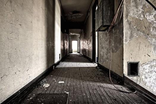 sad hotel corridor